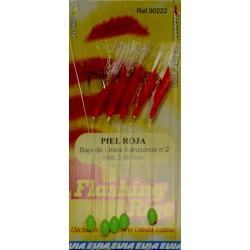 CHICHARRERA FLASHING RIGS PIEL ROJA 5ANZ
