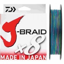 TRENZADO J-BRAID X8 300 MTS MULTICOLOR
