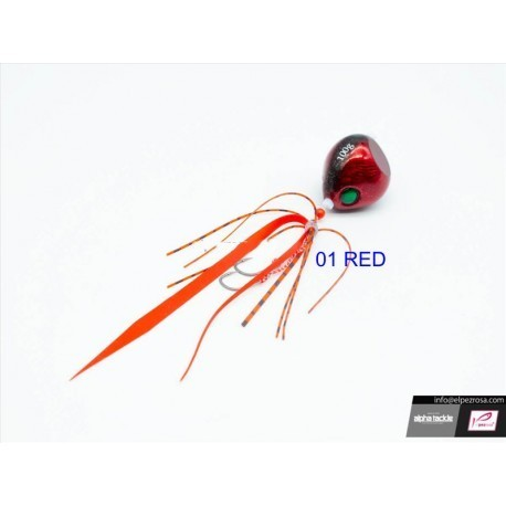 ALPHA TACKLE CRAZEE TAI RUBBER RED