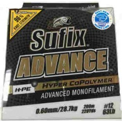 MONOFILAMENTO SUFIX ADVANCE 200 MTS 0.60 MM