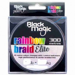 BLACK MAGIC RAINBOW BRAID ELITE 300 METROS